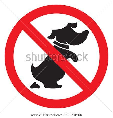 no dog poo sign
