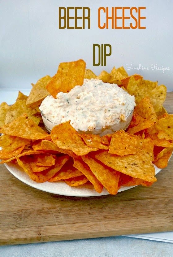 Beer Cheese Dip- Perfect chip dip for parties. Ser…