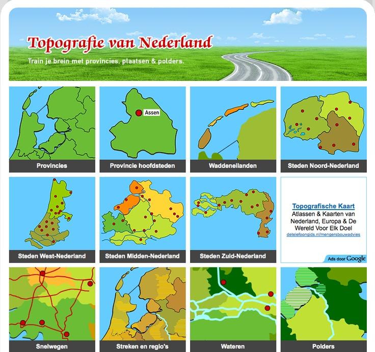 Topgrafie van Nederland; overzicht