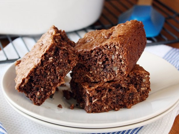 Loaded German Chocolate Cake Mix Brownies ~   1 box Betty Crocker® SuperMoist® German chocolate cake mix   1/2 cup unsalted butter, melted   1 egg  1/3 cup evaporated milk (from 12-oz can)   1 cup chopped pecans  1/2 cup milk chocolate chips   1 cup flaked coconut