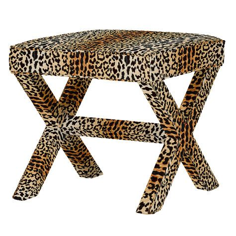 X Bench Fun For Bedroom With Cheetah Lamp Base Or Something Else
