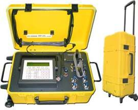 The Laversab 6300 avionics test equipment is an Automated Tester is designed to connect directly to an aircraft's Pitot and Static system. Using the small and lightweight Remote unit a user can operate the tester from the cockpit and use it to test the entire pitot and static system of the aircraft, including altimeters, climb indicators, airspeed / Mach indicators, air data computers and auto-pilots.