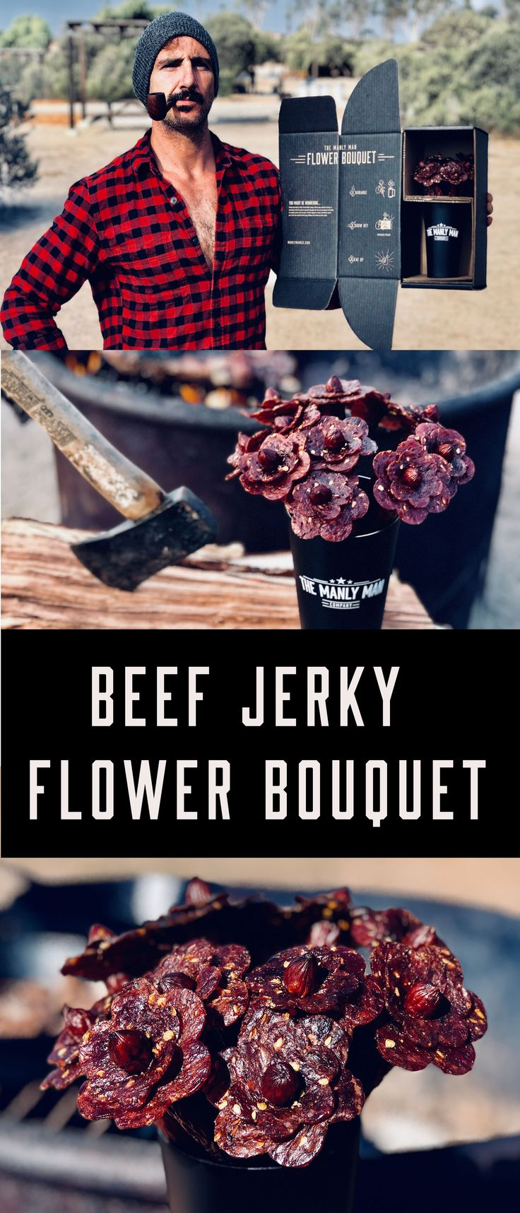 Beef jerky flowers, Valentine's day gift for him