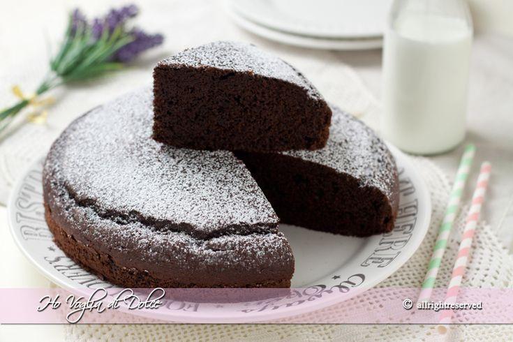 Torta+al+cioccolato+in+5+minuti