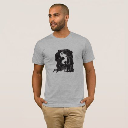 The Boxcar Children: Peek at the Moon T-Shirt - black and white gifts unique special b&w style