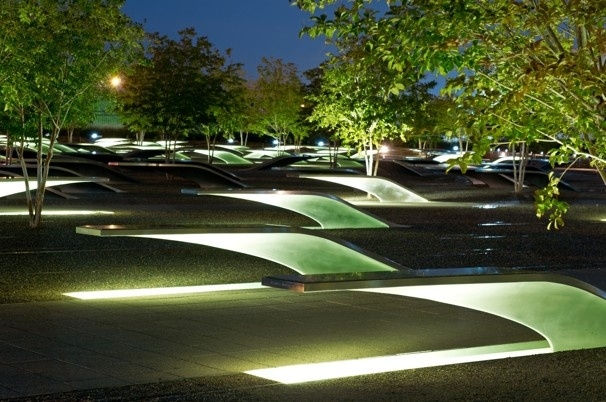 But the human ear possesses special gifts, and, somehow, in that two-acre plot of ground called the Pentagon Memorial, especially if you really try, the ear can filter out all that noise and latch onto the sound of peace. It gurgles in the bubbling pools beneath 184 benches, the symbols of 184 lives lost on that day in September. Close your eyes, and listen to the water. Peace. #911memorial #september11th