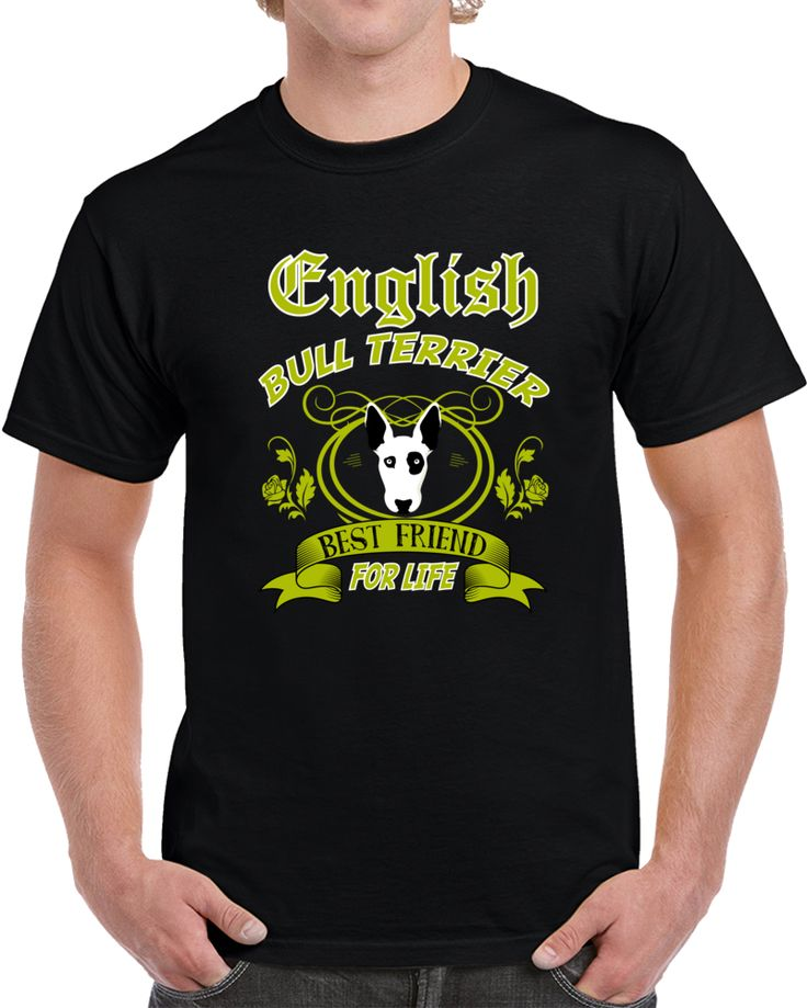 ENGLISH BULL TERRIER T-SHIRT FOR MALE AND FEMALE S - 2XL BLACK COLOR LIMITED
