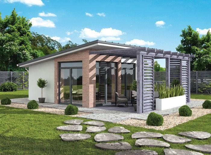 DOM.PL™ - Projekt domu PT KL2 Kuchnia letnia szkielet drewniany CE - DOM PD4-79 - gotowy projekt domu