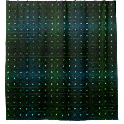 #Diamond Stud Green Shower Curtain - #Bathroom #Accessories #home #living