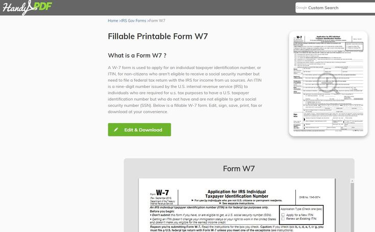 Be familiar with a new tool to edit, fill, and sign online PDF documents. #w7 form  #form w7 # handypdf.com