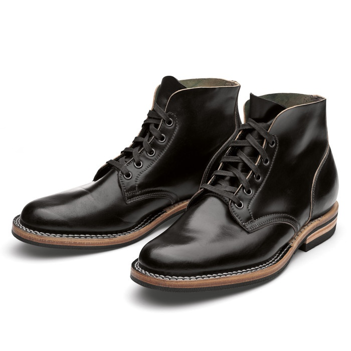 viberg shell cordovan boot schwarz klassische herrenschuhe likes pinterest black shoes. Black Bedroom Furniture Sets. Home Design Ideas