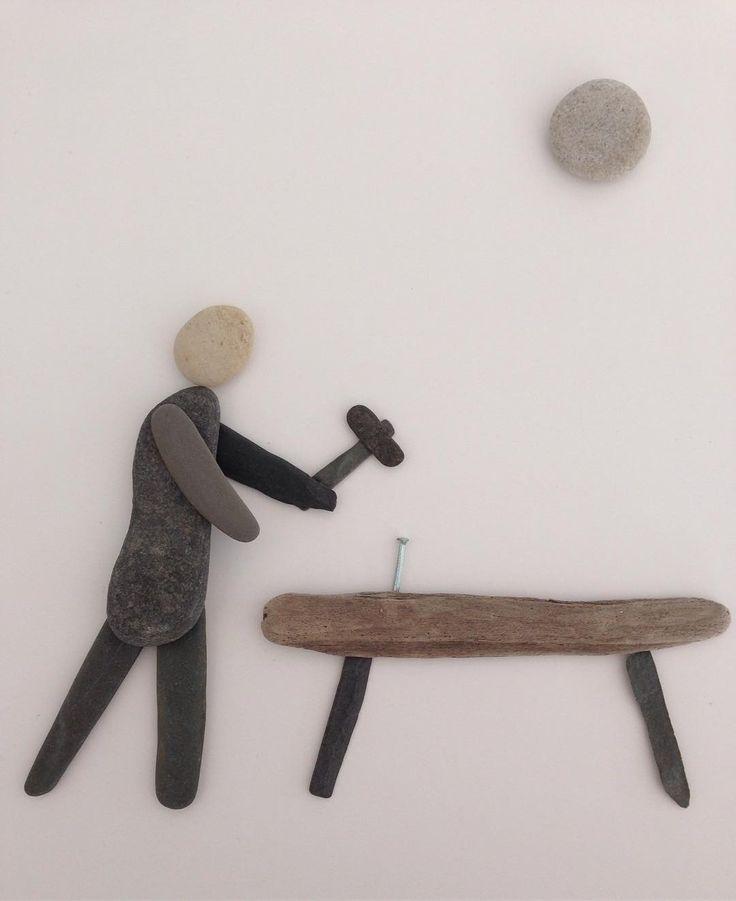 28 отметок «Нравится», 2 комментариев — Rebecka Rottensten (@rebecka_rottensten) в Instagram: «#carpenter #lovewhatyoudo #pebbels #art #myjob #RebeckaR»