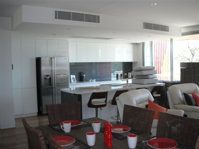 Spacious kitchen and comfortable furniture