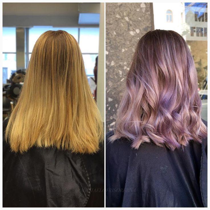 Ännu mer rosa! Vi slingar håret med olaplex för ökad styrka och minskar slitaget på håret,och nyanserar sedan håret i flera mjukt rosiga toner  #pinkhair #cutandcolor #welovehair