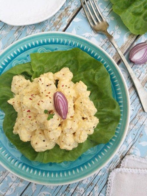 Tojáskrémes karfiolsaláta recept