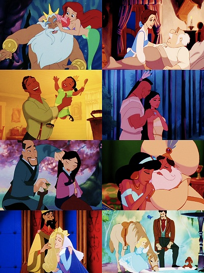 Disney fathers & daughters :-) (But where are all the Mom's?)<< hate to break it to you, but most of them are dead