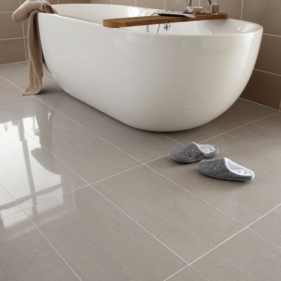 Regal porcelain from Topps Tiles | Bathroom flooring | PHOTO GALLERY | Ideal Home | Housetohome