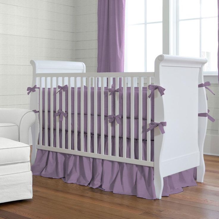 Solid Aubergine Purple Crib Bedding by Carousel Designs.