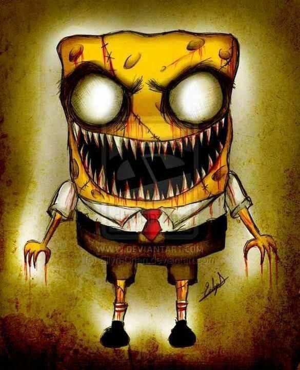 Spongebob Crazy Disney Cartoon Stuff Zombie Cartoon Creepy