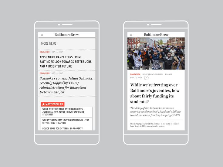 We created a new website for Baltimore's best independent news source Baltimore Brew, matching the site's top-notch investigative journalism with a top-notch design built for the modern web. The new Brew pairs contemporary design with classic news typography, an intuitive user interface, and great mobile experience.