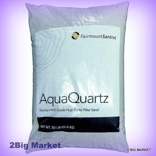 Pool Filter Sand 20 Grade Silica Sand 50 Lbs Fairmount Aqua Quartz Bag Cleaner  #FairmountMinerals