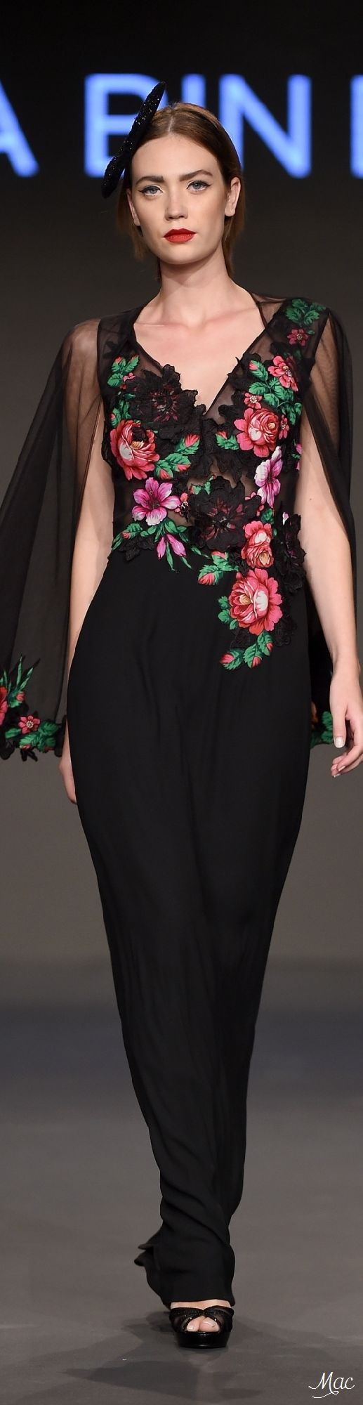 @roressclothes clothing ideas #women fashion black floral jumpsuit Fall 2016 Jelena Bin Drai: