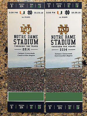 #tickets 2 Notre Dame Fighting Irish vs Miami Hurricanes Football Tickets (10/29/16) please retweet