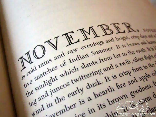 November Book Page