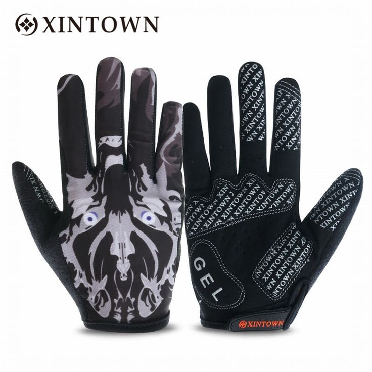 1 Pair Bike Bicycle Cycling Cycle Full Finger Gloves Warm Winter Men Sport Running Touch Screen Gloves Non-Slip Breathable M-XL