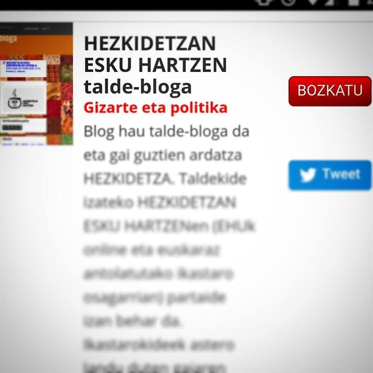 """""""Blogetan. Blog izarren bila"""" ezagutzen duzu? 129 blog #euskaraz eta #hezkidetza ere hortxe! Gustuko baduzu gure talde-bloga bozkatu dezakezu. http://ift.tt/2lZH46Y  Mika esker!  #blog #euskalherria #euskadibasquecountry  @azkuefundazioa #HezkidetzarenAlde indarrak biltzen!"""