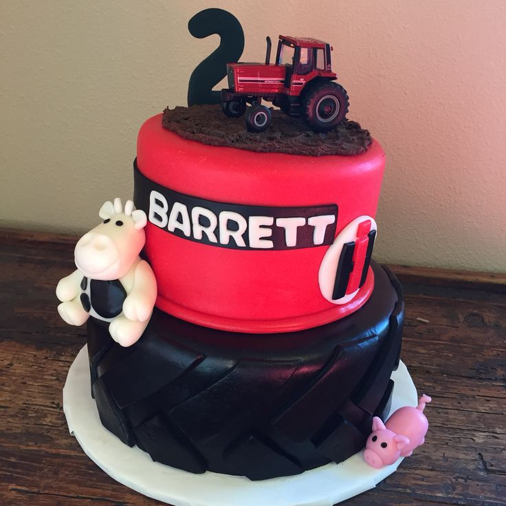 Case IH red tractor birthday cake! It was a huge hit.