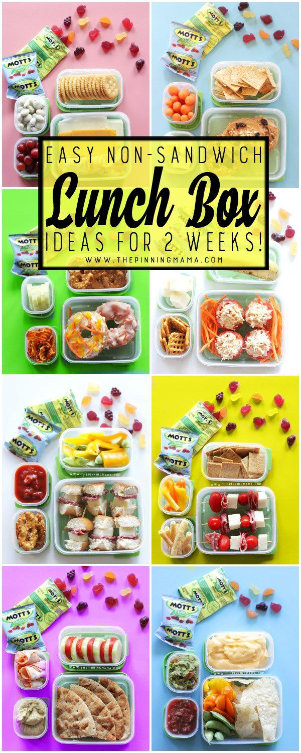 2 Whole weeks of Non-Sandwich - Easy to make - Super fun - Healthy Lunch Box…