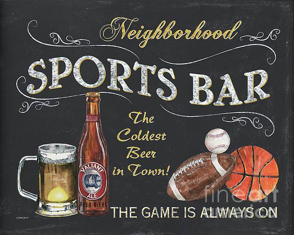 Sports Bar By Debbie Dewitt Sports Bar Art Plaque Wooden Art