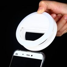 Novelty Lamp LED Selfie Ring Cover For iPhone 5C 5s 6s 7 Plus LG Samsung S7 S8 edge Android Smart Mobile Phone Flash Night Light(China)