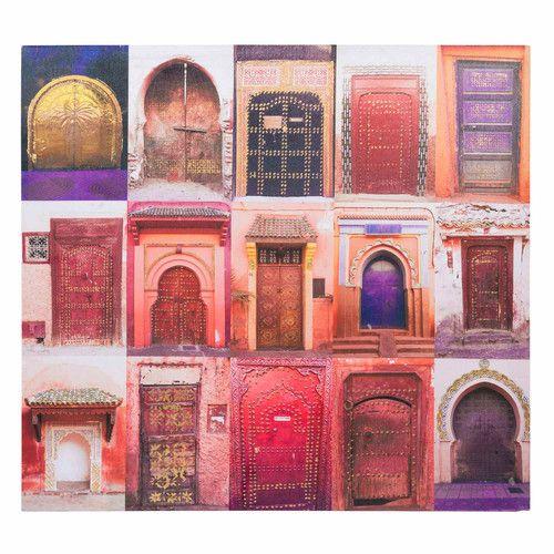 free toile portes orange chemaia maisons du monde with ...
