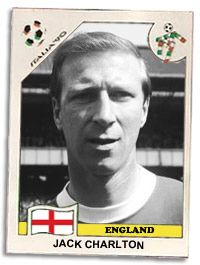 Football player and manager. Born in Ashington, Northumberland as John Charlton. Brother of Bobby Charlton. He played for Leeds United and was a member of the winning England team in the 1966 World Cup. He went on to manage several football teams, including the Irish Republic national side.
