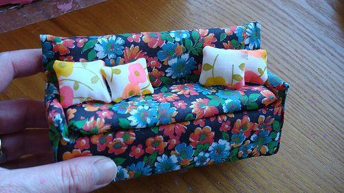 Dollhouse Sofa (mini tutorial) by sparklerama, via Flickr