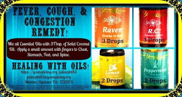 Young Living Essential Oils: Cold Congestion Cough Fever Flu by Sugarbean