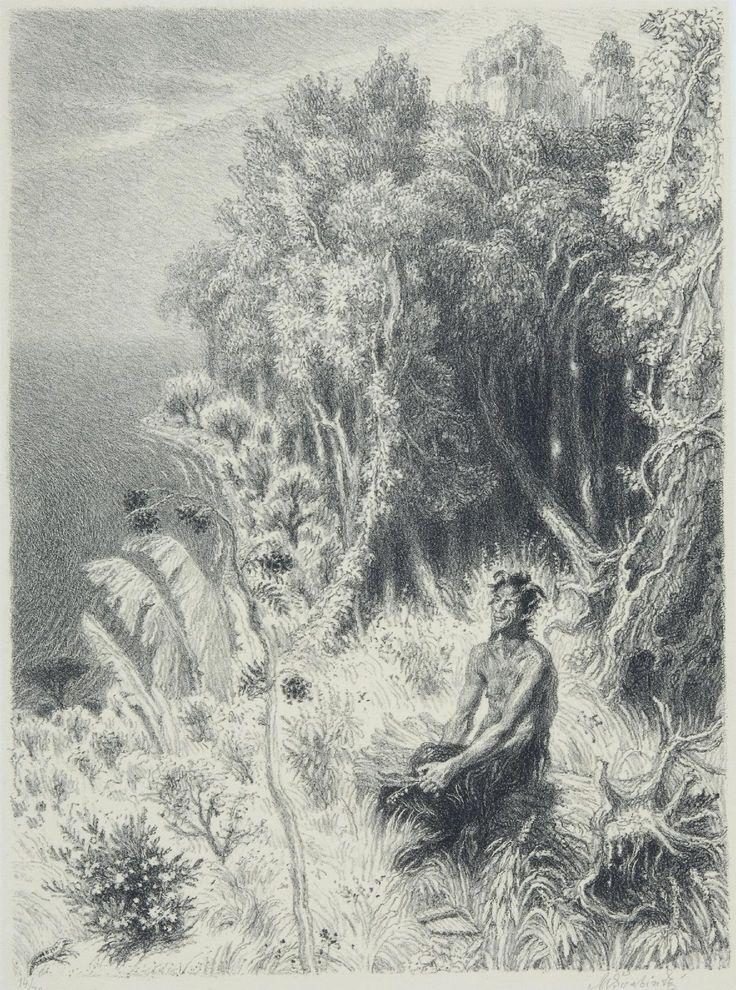 Satyr odpočívá na pasece, 1945 by Max Švabinský