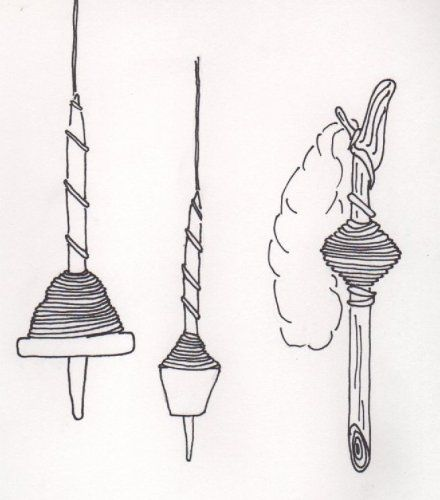 The Vikings used both top and bottom whorl spindles, but since most of the whorls are found without shafts it's hard to say which was most common. There are also findings of a wooden rod, called a spinning hook. It's simply a stick they twirled around like a spindle. The weight of the whorls, suggests that the Vikings spun yarn of different weights. It is interesting to see that the lighter whorls were very common. The yarn they spun with these would have been thin and used to make fine…