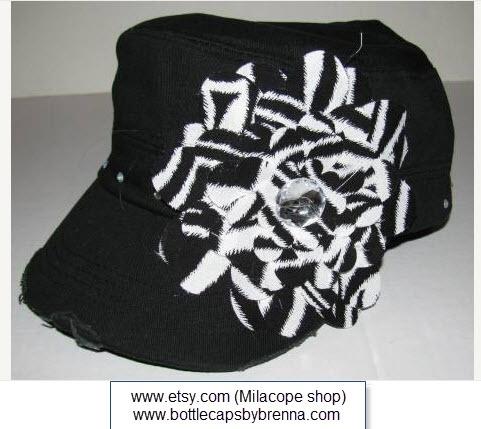 Zebra Flower Hat