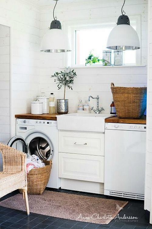 Laundry Room Inspiration and The September Household Organization Diet To Do List