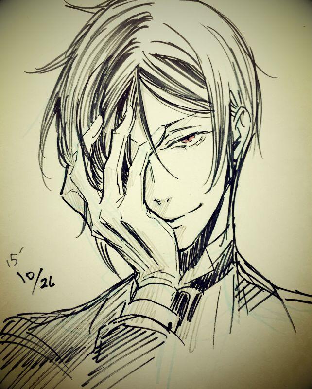 Black Butler (Kuroshitsuji) Sebastian Michaelis Sketch by Yana Toboso