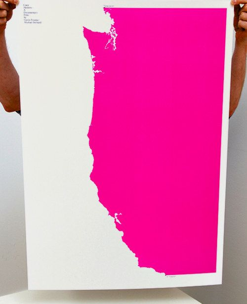 BUILD  Michael C. Place - WA state printDiy Art, California, Art Piece, Posters Design, Graphics Posters, West Coast, Film Posters, Bold Colors, Westcoast