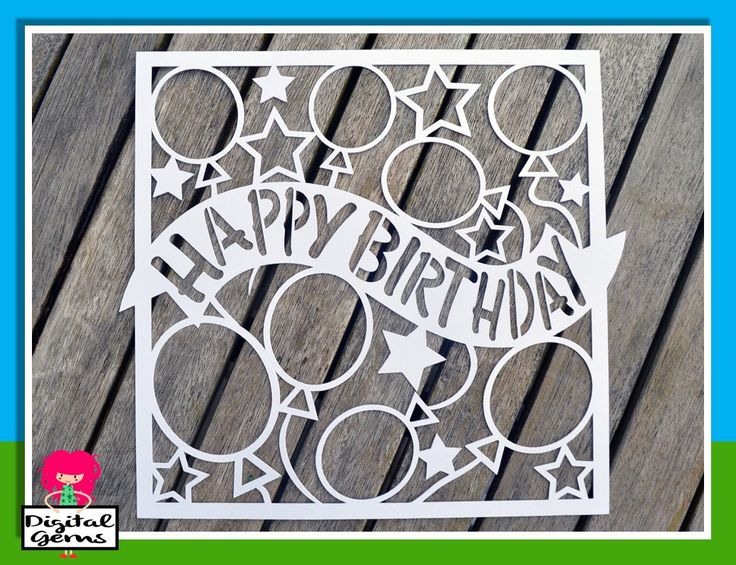 Cuttings, Happy birthday and Cutting files on Pinterest