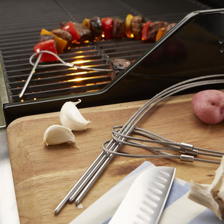 These Outset BBQ Flexible Wire Skewers are a great way to make kebobs