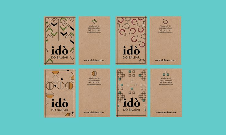 Personal Cards Design for Idò D.O. Balear