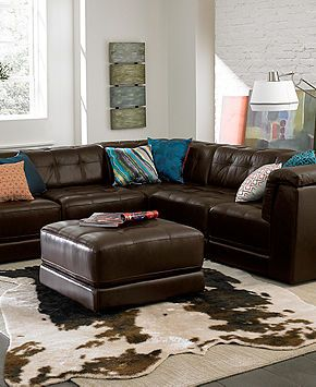 Martino Leather 3 Piece Chaise Sectional Sofa Www Looksisquare Com