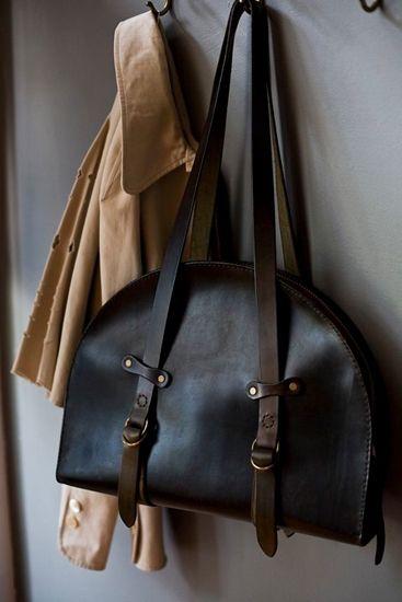 a.b.k leather bag