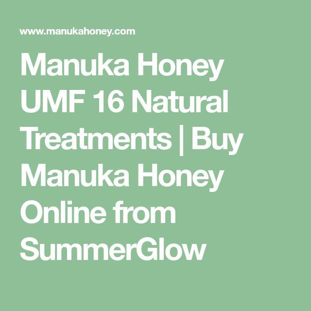 Manuka Honey UMF 16 Natural Treatments | Buy Manuka Honey Online from SummerGlow